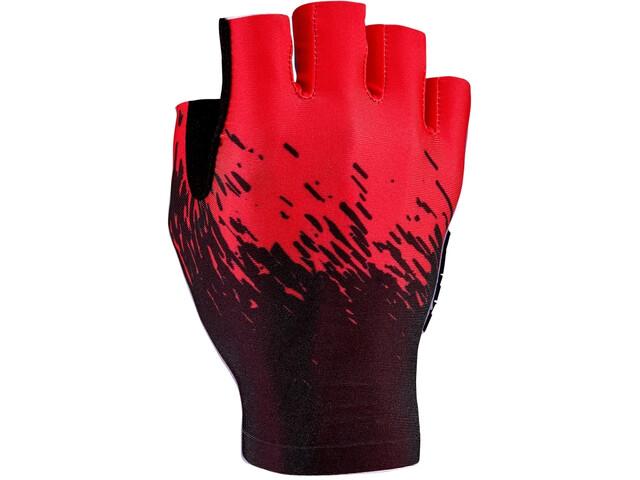 Supacaz SupaG Guanti mezze dita, nero/rosso